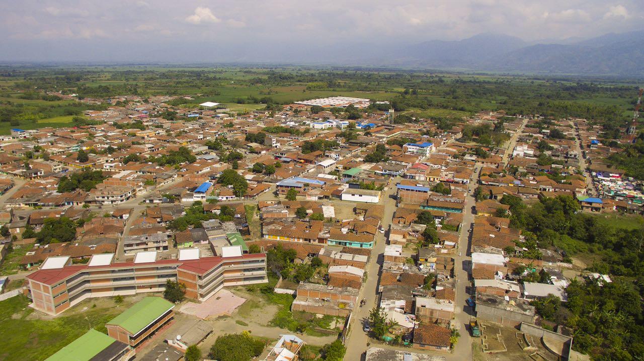 VISTA PANORAMICA DEL MUNICIPIO DE GUACHENÉ